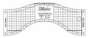 Handi Quilter Wave C Ruler 8 inch Wave for Mid Arm amp; Longarm Quilting Machine $24.95