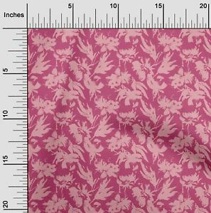 oneOone Cotton Flex Pink Fabric Florals Sewing Fabric By The Yard 78H