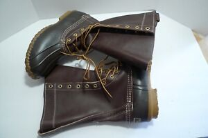 LL BEAN 12quot; HUNTING BOOTS MADE IN MAINE PRISTINE CONDITION 8 WIDE