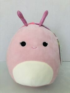 RARE Squishmallow 8quot; Silvina Snail Pink with Tie Dye Shell Plush You Kellytoy