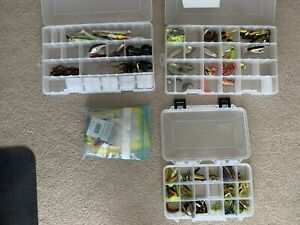 Freshwater Fishing Tackle USED 3 TACKLE BOXES :