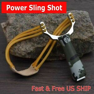Slingshot CAMOUFLAGE High Velocity Powerful Catapult Hunt Sling Shot Outdoor NEW $5.49