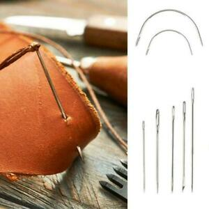 Upholstery Carpet Leather Canvas Repair Curved Hand Sewing Kit Needles U5A9 $5.73