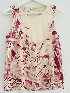 Lucky Brand tank top botanical printed size M for women pre owned