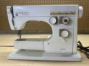 Viking Husqvarna Sweden 6030 Vintage Sewing Machine Great Condition Needs Pedal $100.00