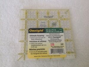 Omnigrid 4quot; Square Ruler for Quilting Miniatures amp; Sewing 4 x 4 inch R4G $9.99