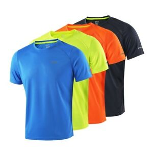 Summer Mens Running T Shirts Active Short Sleeves Quick Dry Training Gym Jersey $16.99