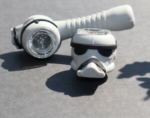 Collectible Star Wars Storm Trooper Silicone Tobacco Smoking Pipe W Glass Bowl $8.99