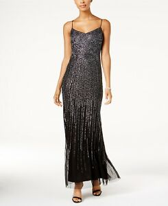 Adrianna Papell Beaded Gown MSRP $349 Size 10 # DN 2071 Blm $31.89