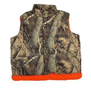 Mount#x27;n Prairie Insulated Reversible Puffer Vest Naked North Camo Hunting 2XL