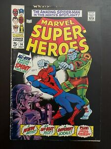 Marvel Super Heroes #14 1968 Spider Man story Silver age comic ungraded $9.00