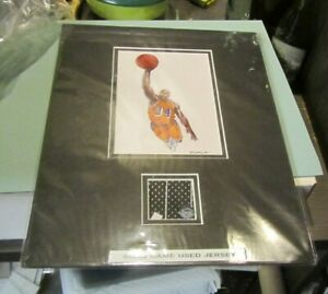 Shaquille O#x27;Neal Los Angeles Lakers Basketball Star Lithograph Game Used Jersey $59.95