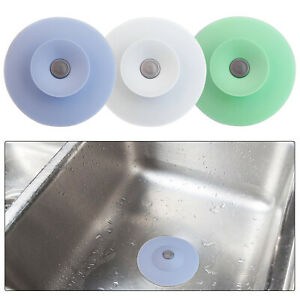 2 Pack Silicone Floor Drain Plug Cover Kitchen Bath Sink Water Stopper Strainer
