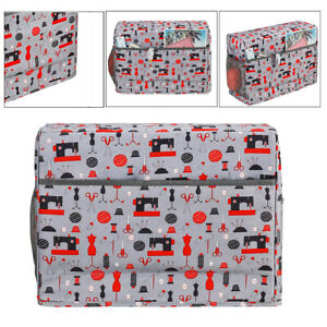 Quilted Sewing Machine Cover with Pockets Carrying Organizer Bag Accessories $20.78