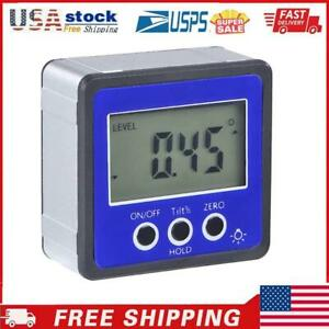Magnetic Digital Protractor Inclinometer Level Box Angle Finder Box Blue $17.86