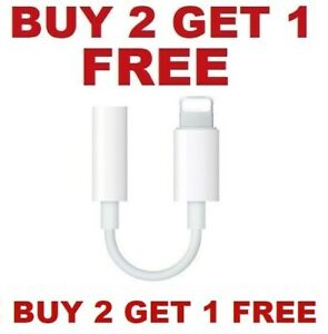 Headphone Adapter Jack For Apple iPhone 3.5mm Aux Cord Dongle $4.99