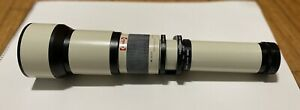 Opteka 650 1300mm F8 16 Telephoto Zoom Lens for Canon Manual Used