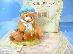 Calico Kittens Fishing For A Friend Mischievious 112453 New In Box Enesco