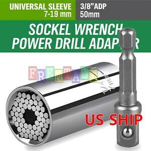 Universal Socket Wrench Magical Grip Alligator Multi Tool with Drill Adapter