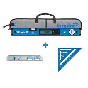 Empire Magnetic Digital Box Level Case 24 In Torpedo Leveling Tool Rafter Square $176.99