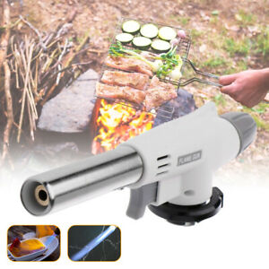Gas Kitchen Blow Torch Refillable Cooking Torch Lighter for Desserts BBQ No Gas