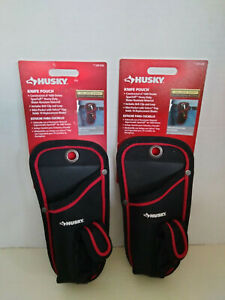 Husky Knife Pouch Heavy Duty Water Resistant Includes Belt Clip and Loop 249028
