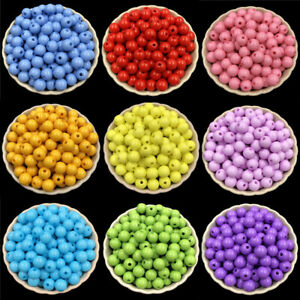 Acrylic beads Loose Beads Jewelry Accessories DIY Findings 100PCS 8mm Round C $0.99