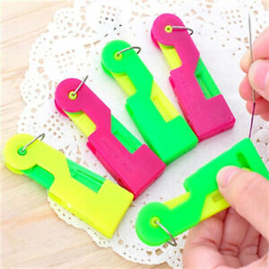 10PCS Elderly Use Automatic Easy Sewing Needle Device Threader Thread Guide Tool C $0.99