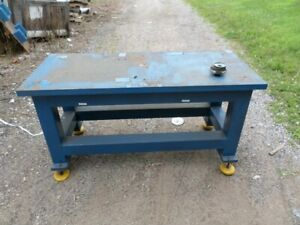 Heavy Duty Steel Fabrication Welding Table 1 1 2quot; Thick Top 25quot; x 58quot;