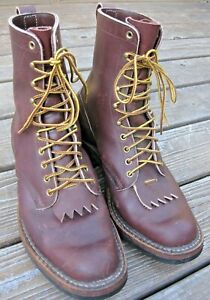 WHITE#x27;S BOOTS USA Packer Style Leather Mens Boots Size 10.5 wide E very good