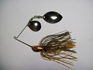 SPINNERBAIT DOUBLE OKLAHOMA BLADES NATURAL CRAWFISH BASS LURE