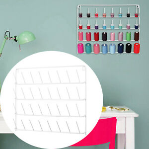 Wall Hanging Thread Holder 32 Spool Sewing Thread Organizer Embroidery Tool Iron $24.47