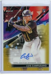 Luis Campusano 2021 Topps Finest Auto Rookie Gold Refractor Autograph 29 50 $36.00