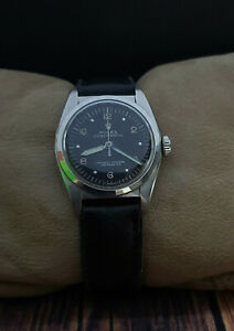 RARE ROLEX OYSTER PERPETUAL BUBBLEBACK 6050 VINTAGE 40s RARE 31mm SWISS WATCH. $2600.00