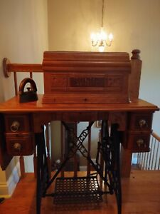 White Westinghouse Antique Sewing Machine 1890 $450.00