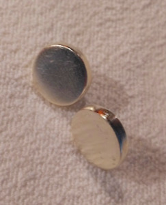 Givenchy silver tone disc round earrings post pierced designer hallmark stamped $55.55