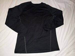 Mens Under Armour Cold Gear Fitted Base 2.0 Black Top Size 2XL $17.99