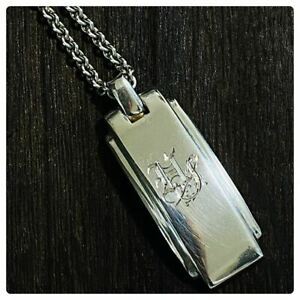 Tiffany Co. Metropolis Necklace Pendant Silver 925 Sterling Dog Tag 7 425 $309.50