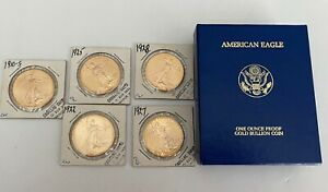 6 U.S. GOLD COINS 5 $20 ST GAUDENS amp; 1986 $50 AMERICAN GOLD EAGLE COIN $13198.00
