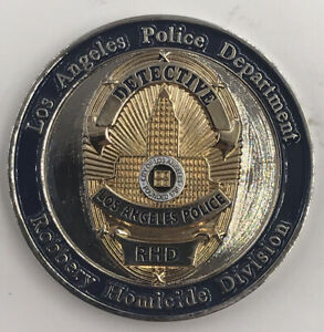 LAPD Robbery Homicide Division RHD Detective Los Angeles Police Challenge Coin $49.99