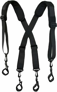 Strong tool belt suspenders heavy duty work for men with loop clips attachment