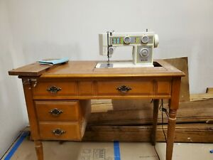 antique sewing machine table $125.00