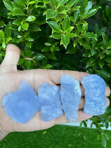 Wholesale Natural Blue Chalcedony Stone Rough stone for healing and meditation $25.00