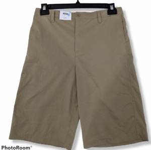 Under Armour Shorts Boys 20 Heat Gear Beige Pockets 11quot; Inseam Loose Fit Stretch $19.99