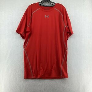 Under Armour Mens HeatGear Armour Short Sleeve Red Compression T Shirt Size 3XL $24.99