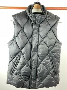 Zara Men Black Puffer Vest Winter Light Weight Padded Quilted Jacket Size Large $25.00