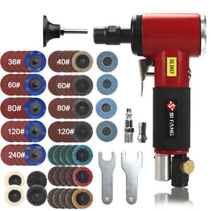 1 4 Air Right Angle Die Grinder kit Pneumatic Grinding Machine Cut Off Tool 71Pc $88.18