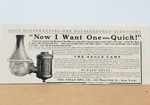 The Angle Lamp 1907 PRINT AD Merwyn#x27;s Blue Mountain Lake NY Antique quot;I Want Onequot; $17.95
