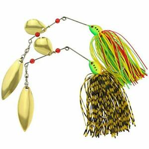 Magicamp;shell 2PCS Fishing Spinnerbait Jigs Head Rubber Fishing Lures for Pike ...