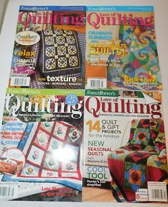 Lot of 4 Fons amp; Porter For the LOve Of Quilting Magazines Quilt Patterns Project $12.95